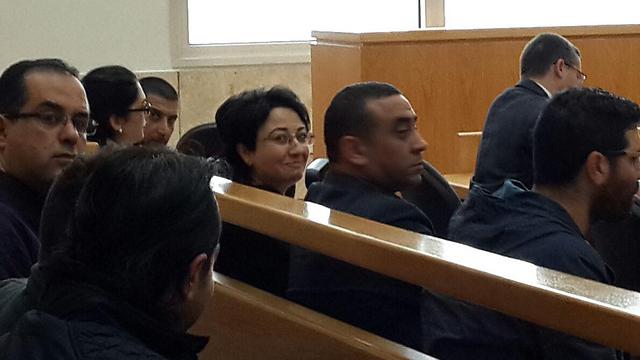 """ח""""כ חנין זועבי, היום בבית המשפט (צילום: חסן שעלאן) (צילום: חסן שעלאן)"""