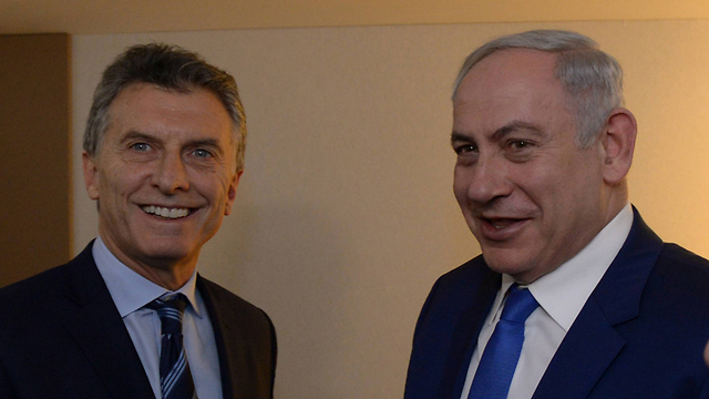 Netanyahu and Macri. No influence on the matter (Photo: Haim Zach/GPO)