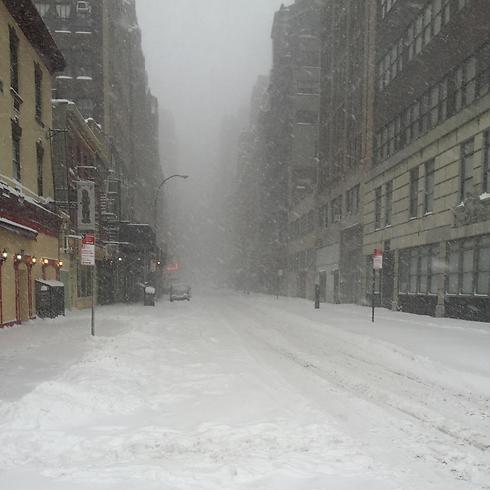 רחובות ניו יורק נצבעו לבן (צילום: שחר פלד) (צילום: שחר פלד)