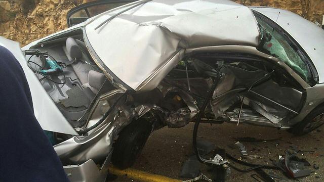 """תאונות דרכים קטלניות - במקרים רבים, הנהג אינו עבריין מועד (צילום: כבאות מחוז יו""""ש) (צילום: כבאות מחוז יו"""