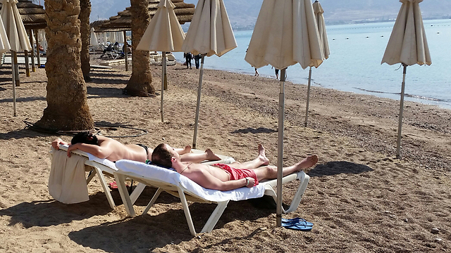 Meanwhile, in Eilat... (Photo: Herzl Yosef)