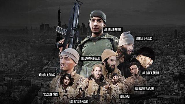 The Islamic State terrorists who carried out the Paris attacks (Photo: Screenshot)