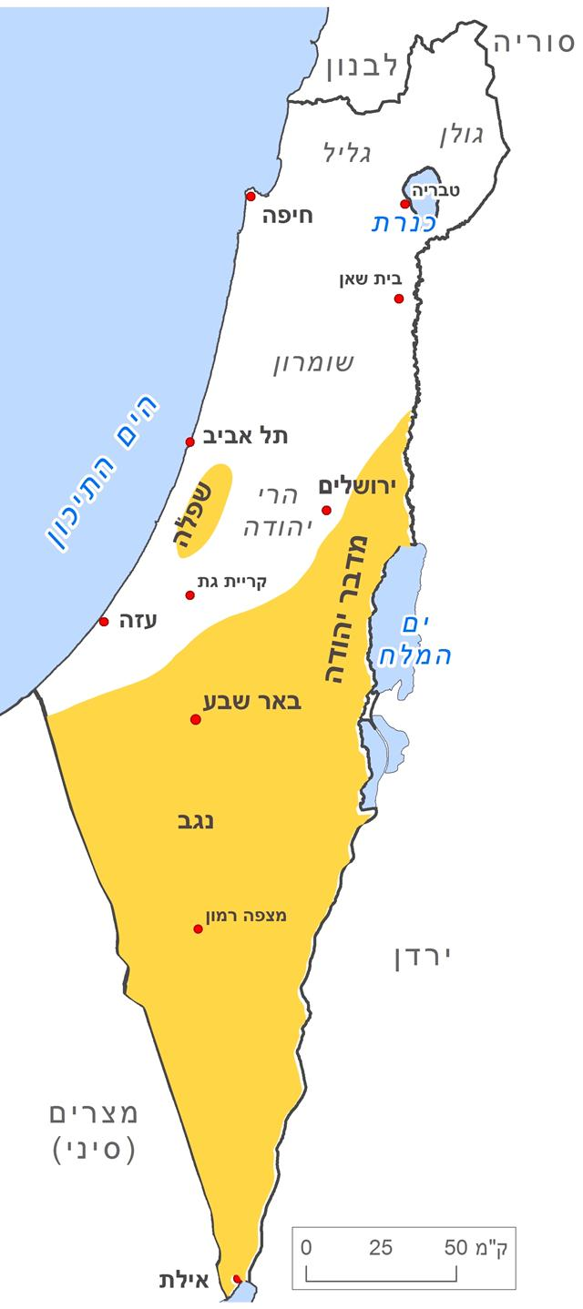 מפת תפוצה של קיפוד המדבר (עיצוב: שרון עשת וגלעד וייל)
