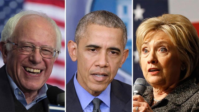 קלינטון, אובמה, סנדרס. שילוב כוחות במפלגה הדמוקרטית? (צילום: MCT, AP, AFP) (צילום: MCT, AP, AFP)