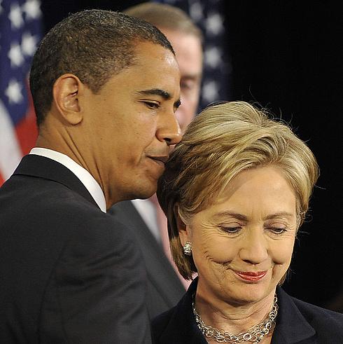 הסנאטור הצעיר והאלמוני גבר על קלינטון בפריימריז הדמוקרטיים ב-2008 (צילום: AFP)