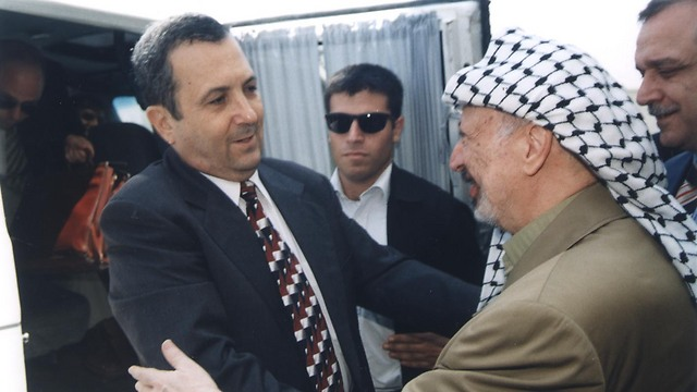 Former PM Barak with former Palestinian President Yasser Arafat. Barak later understood Israel has no partnet for peace. (Photo: Israel Hadari)