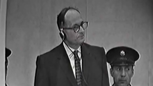 Adolf Eichmann, in his trial in Israel