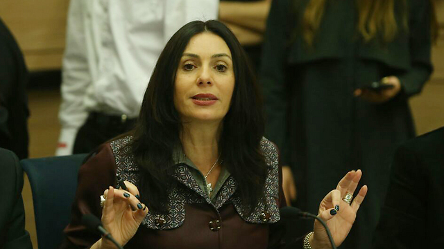 Culture Minister Regev during Wednesday's discussion (Photo: Ohad Zwigenberg) (Photo: Ohad Zwigenberg)