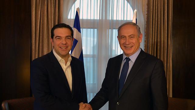 """נתניהו וציפראס: """"יוון היא ידידה אמיתית"""" (צילום: קובי גדעון) (צילום: קובי גדעון)"""