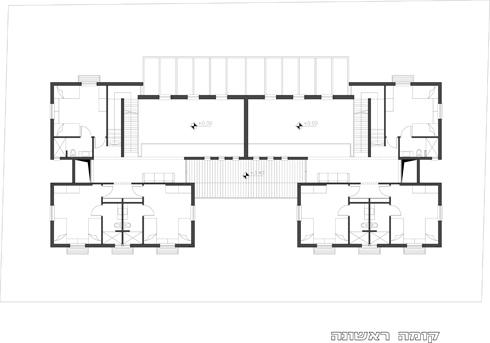 תוכנית הקומה העליונה (תוכנית: אדריכלית נעמה שבתאי-ציזר)