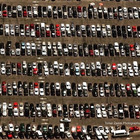 חניון שדה התעופה בלוס אנג'לס (צילום: תומר צדוק) (צילום: תומר צדוק)