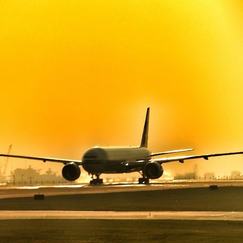 בואינג 777 על המסלול (צילום: תומר צדוק) (צילום: תומר צדוק)