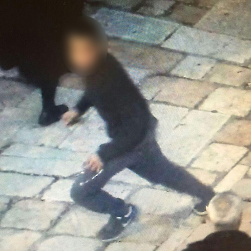 One of the alleged attackers who stabbed a 17-year-old Israeli, in a photo distributed by police.
