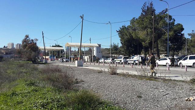 מחסום פוקוס, הבוקר אחרי הפיגוע (צילום: TPS) (צילום: TPS)