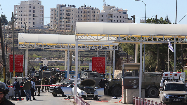 The checkpoint where the attack occurred (Photo: Gil Yohanan)