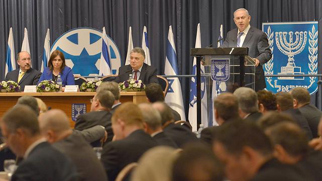 PM Netanyahu speaking to ambassadors at the Israeli Foreign Ministry (Photo: Kobi Gideon, GPO)