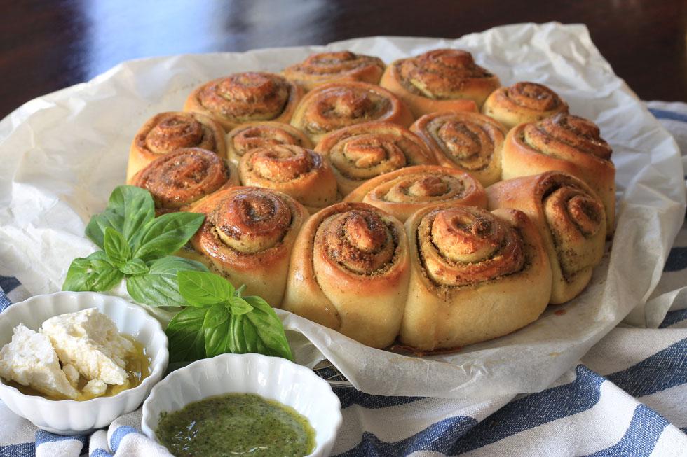 שושני פסטו: לחם מיוחד עם תיבול בניחוח איטלקי (צילום: אורלי חרמש)