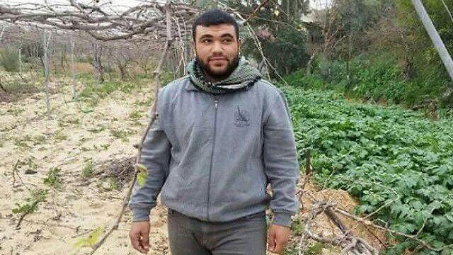 """ההרוג ב""""אירוע"""" במרכז הרצועה, אחמד א-זהאר ()"""