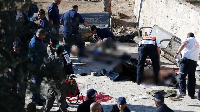 זירת הפיגוע (צילום: AFP) (צילום: AFP)