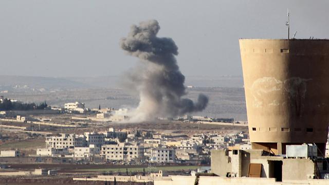 הפצצות של אסד בחלב (צילום: רויטרס) (צילום: רויטרס)
