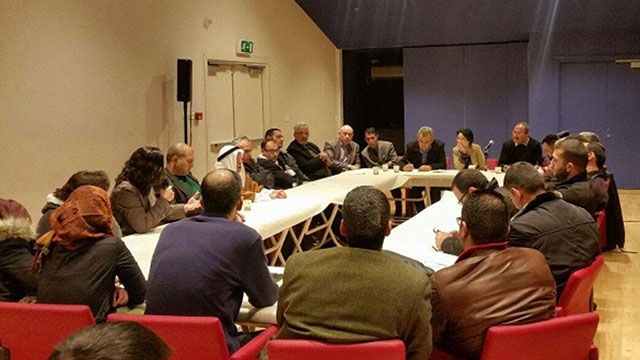 Balad party members meet with families of terrorists. (Photo: Arab media)