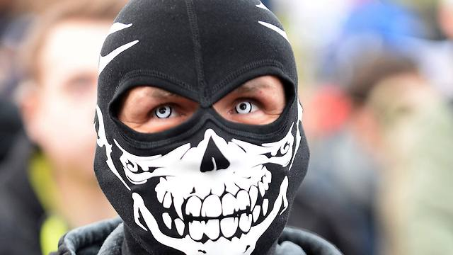 PEGIDA supporter in Warsaw, Poland on Saturday (Photo: AFP)
