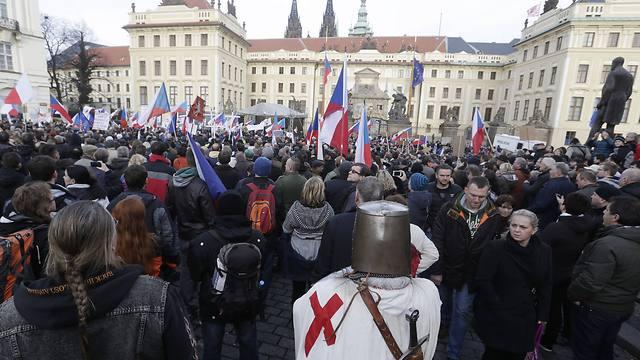PEGIDA rally in Prague, Czech Republic on Saturday (Photo: AP)