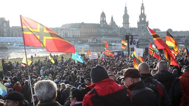PEGIDA rally in Dresden, Germany on Saturday (Photo: AP)