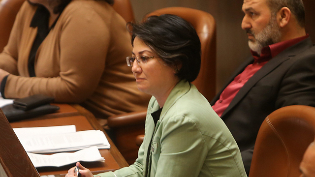 Joint List MK Haneen Zoabi (Photo: Alex Kolomoisky)