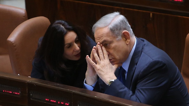PM Netanyahu and Minister Miri Regev (Photo: Alex Kolomoisky)