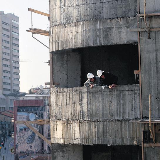 אתר בנייה. הענף אחראי לרוב תאונות העבודה הקטלניות