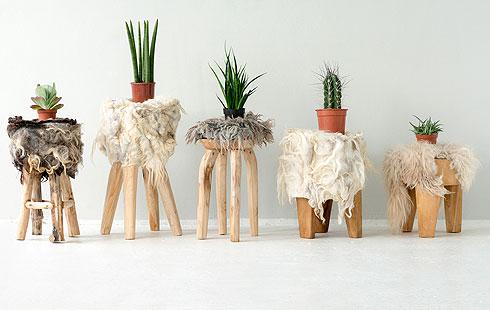 שרפרפים של ביאטריס ונדרס (''The Soft World''). אפשר להסתפק גם בשטיח או כרית (צילום:Van Soest & Van Krimpen Photography )