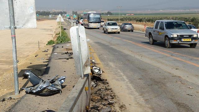 כביש 31 - מרבית התנועה תוסט לכביש 6 (צילום: הרצל יוסף) (צילום: הרצל יוסף)