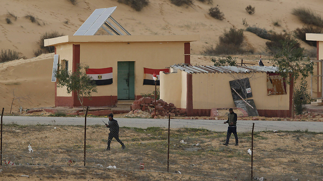 Egyptian border policemen in Sinai (Photo: Reuters)