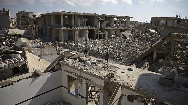 הרס וחורבן בדמשק (צילום: רויטרס) (צילום: רויטרס)