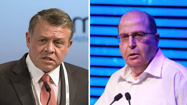 Jordan's King Abdullah, Israel's Defense Minister Ya'alon (Photos: EPA, Motti Kimchi)