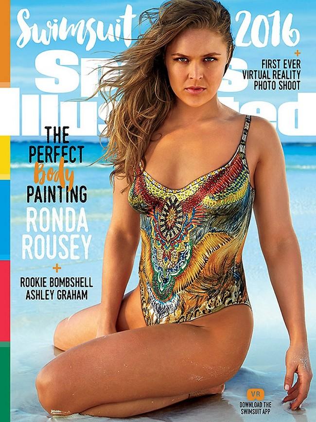 רונדה רוסי על שער מגזין ספורטס אילוסטרייטד