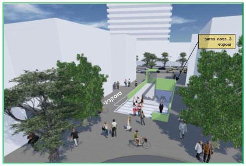 """רחוב טוסקניני, בין היכל התרבות לאבן גבירול, יהפוך למדרחוב כי תהיה בו תחנת תחתית. מישהו מהתושבים מודע לזה? (באדיבות נת""""ע)"""