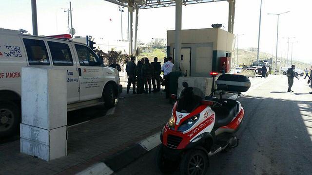 Jerusalem checkpoint (Archive photo: Jerusalem MDA)