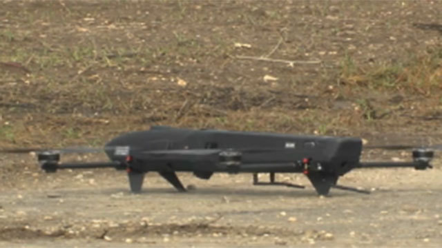 The drone on the ground (Photo: IAI)