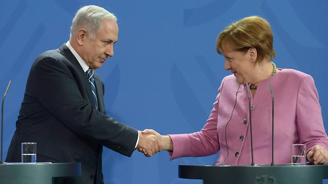 """ביקור נתניהו בברלין. הקנצלרית הופתעה (צילום: עמוס בן גרשום, לע""""מ) (צילום: עמוס בן גרשום, לע"""