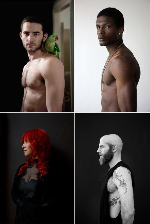 עבודות של דוד עדיקא מתוך Salon 2010 ;Untitled (Omer), Tel Aviv 2010 ;My Soul Is a Blake Lake, Riga 2014 (צילום: דוד עדיקא)