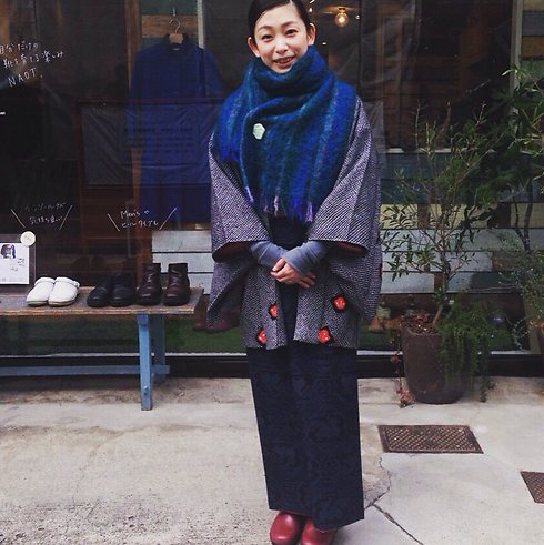 Woman wearing 'Iris' model clogs in Japan