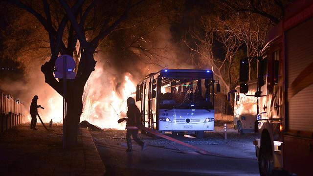 Scene of explosion in Ankara, Turkey (Photo: AFP)