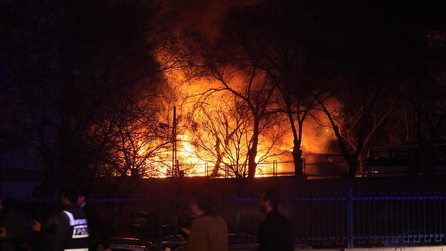 Scene of explosion (Photo: EPA)