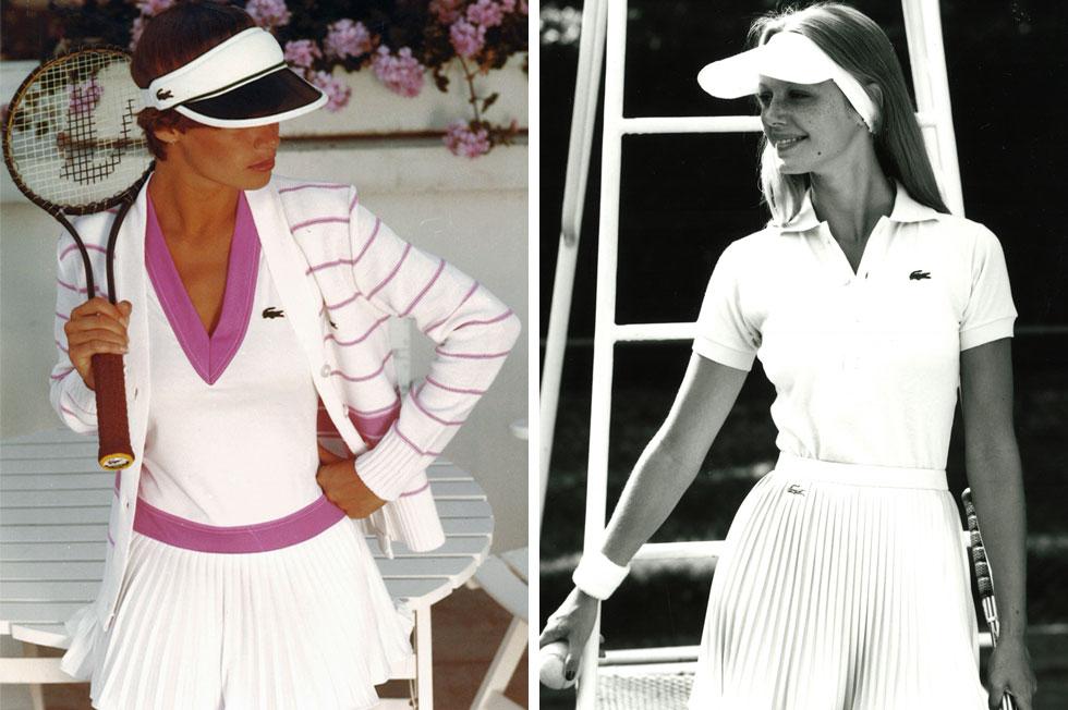 החצאית שהופכת את הטניסאיות לשיקיות שבספורטאיות. לקוסט, 1976