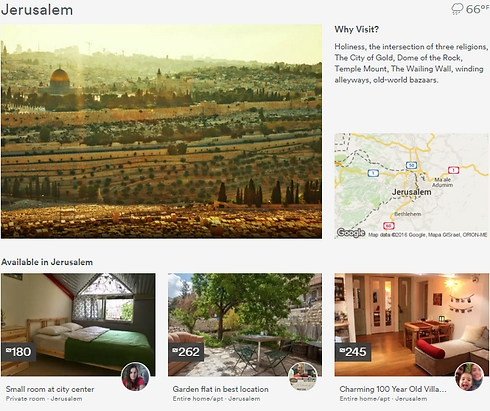 אתר Airbnb. כמה עולה דירה בירושלים? (צילום: Airbnb)