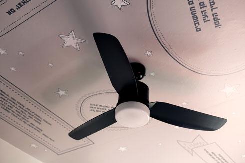 """""""הנסיך הקטן"""" ואורי אורבך על התקרה (צילום: שירן כרמל)"""