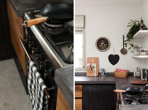 אחד הלבבות הרבים שמקשטים את הבית מתנוסס במטבח (מימין) (צילום: שירן כרמל)