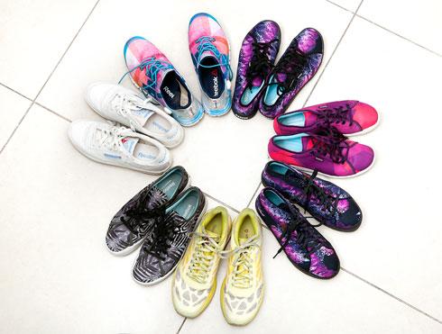 """""""יש לי אוסף נעלי ספורט רחב, שמסודר בארון נעליים שלם שמוקדש לנעלי ספורט"""". ריבוק (צילום: ענבל מרמרי)"""